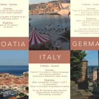 Study Abroad Brochure - inside, fully unfolded