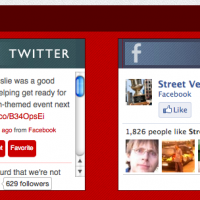 Streetvendor.org - Custom social widgets